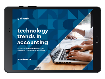 technology trends in accounting report shown on a tablet