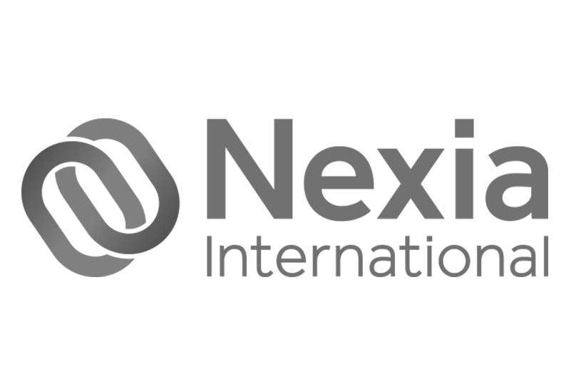 Nexia International logo in black and white